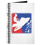 Red White and Blue Snowmobiler Journal