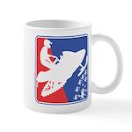 Red White and Blue Snowmobiler 11 oz Ceramic Mug