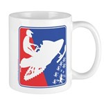 Red White Snowmobile 11 oz Ceramic Mug