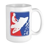 Red White Snowmobile 15 oz Ceramic Large Mug