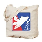 Red White Snowmobile Tote Bag