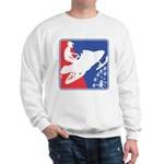 Red White and Blue Snowmobiler Sweatshirt