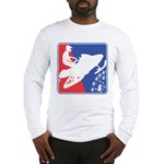 Red White and Blue Snowmobiler Long Sleeve T-Shirt