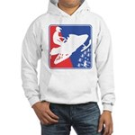 Red White and Blue Snowmobiler Hooded Sweatshirt