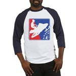 Red White Snowmobile Baseball Tee