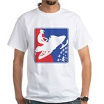 Red White and Blue Snowmobiler White T-Shirt