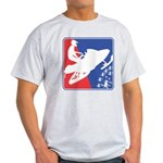 Red White and Blue Snowmobiler Light T-Shirt