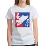 Red White Snowmobile Women's Classic T-Shirt