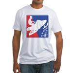 Red White and Blue Snowmobiler Fitted T-Shirt