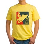 Red White and Blue Snowmobiler Yellow T-Shirt