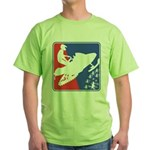 Red White and Blue Snowmobiler Green T-Shirt