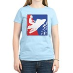 Red White and Blue Snowmobil Women's Light T-Shirt