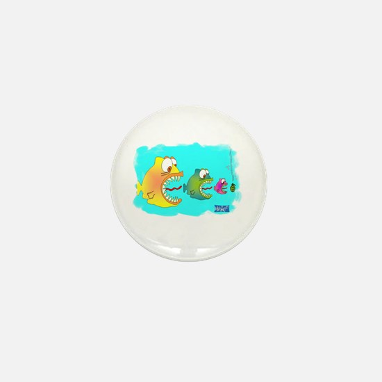 Fish Eat Fish World Mini Button