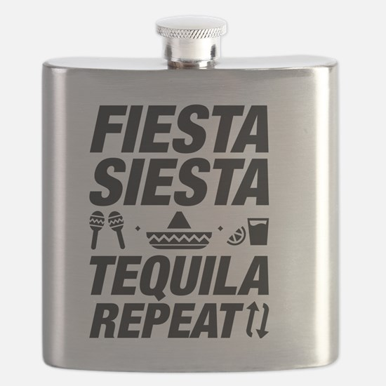Fiesta Siesta Tequila Repeat Flask