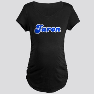 Retro Jaron (Blue) Maternity Dark T-Shirt