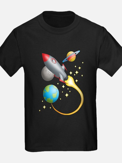 Rocket Ship Kids T-Shirt