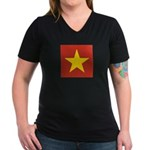 People's Republic of China Women's V-Neck Dark T-S