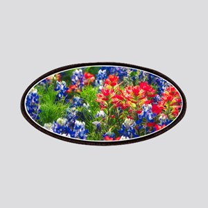 Indian Paintbrush and Bluebonnets Together Patch
