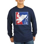 Red White Snowmobile Long Sleeve Dark T-Shirt