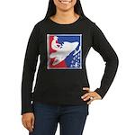 Red White and Blu Women's Long Sleeve Dark T-Shirt