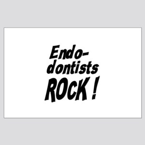 Endodontists Rock ! Large Poster