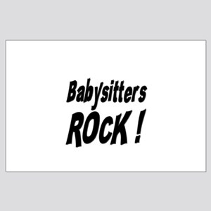 Babysitters Rock ! Large Poster