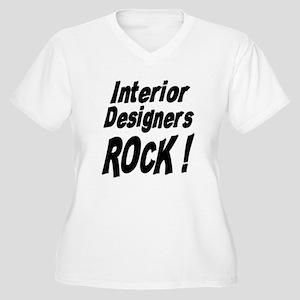 Interior Designers Rock ! Women's Plus Size V-Neck