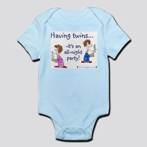 Having Twins - An All-Night P Infant Creeper