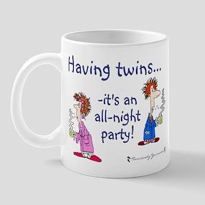 Having Twins - An All-Night P Mug