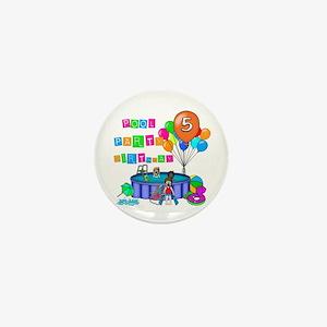 Pool Party 5th Birthday Mini Button