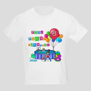 Pool Party 8th Birthday Kids Light T-Shirt