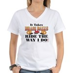 It takes Brass Balls Women's V-Neck T-Shirt