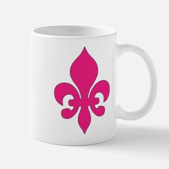 Pink Fleur de Lis Mug