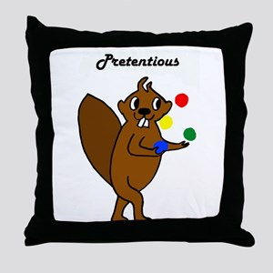 Komm Mit Beaver - Scheusslich Throw Pillow