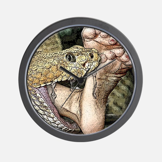 Sexy Snake Vore Wall Clock