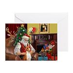 Santa's Basenji Greeting Card