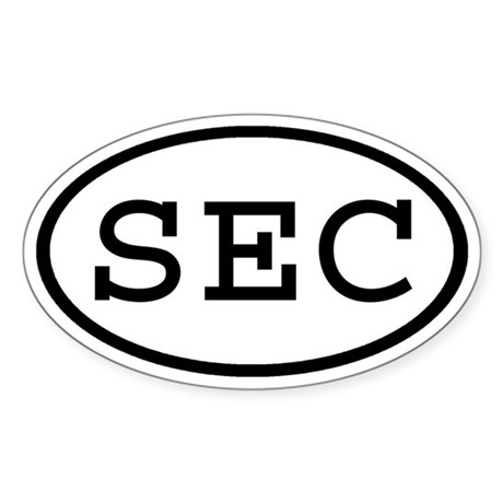 SEC Oval Oval Sticker
