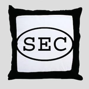 SEC Oval Throw Pillow