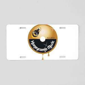 Honeycomb_logo Aluminum License Plate
