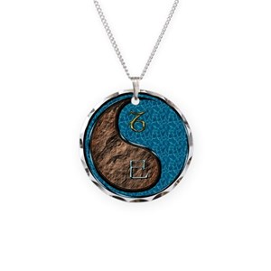 Capricorn & Water Snake Necklace Circle Charm