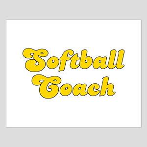 Retro Softball Co.. (Gold) Small Poster