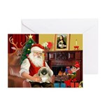 Santa's Pekingese (#1b) Greeting Cards (Pk of 10)