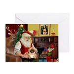 Santa's Pekingese (#1rd) Greeting Card