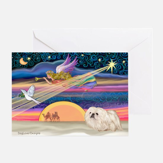 XmasStar/Pekingese (4W) Greeting Card