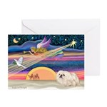 XmasStar/Pekingese (4W) Greeting Cards (Pk of 10)