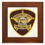 Tombstone Marshal Framed Tile
