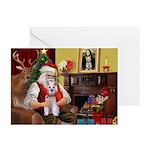 Santa's Schnauzer (9) Greeting Cards (Pk of 20)