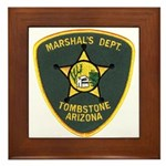 Marshal Tombstone Framed Tile