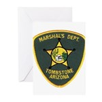 Marshal Tombstone Greeting Cards (Pk of 20)