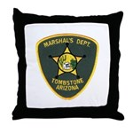 Marshal Tombstone Throw Pillow
